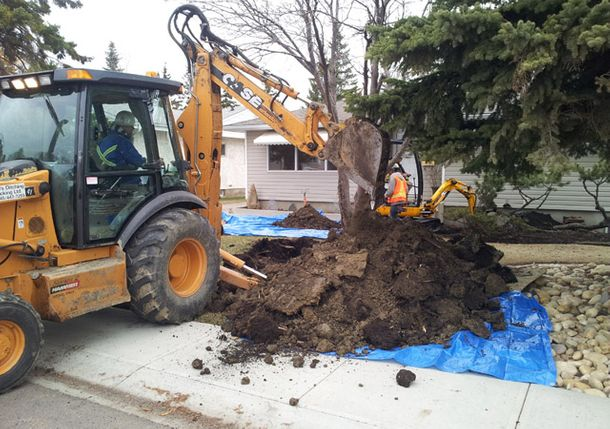 replacement of collapsed sewer